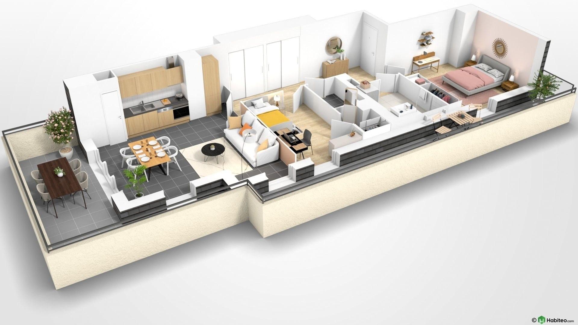 Beauvais Oise 60 Résidence Le Franc Marché centre-ville appartement neuf VEFA plan habiter investir investissement locatif loi défiscalisation Pinel réduction impôts H301