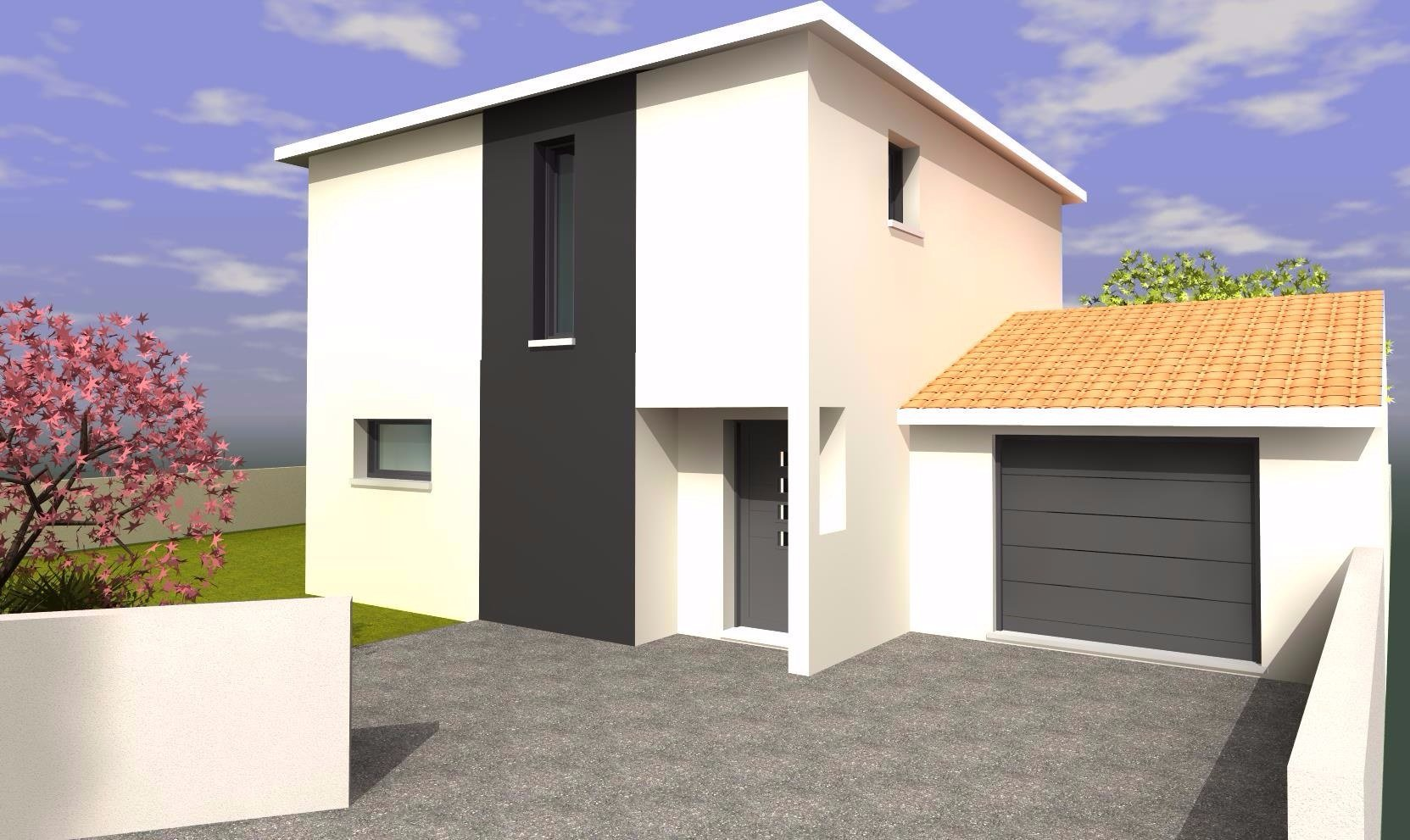 MAISONS DZ étage 105m² garage simple