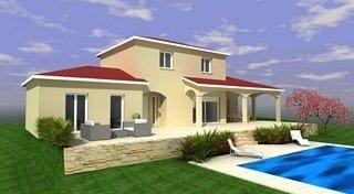 Maison à étage avec terrasse couverte