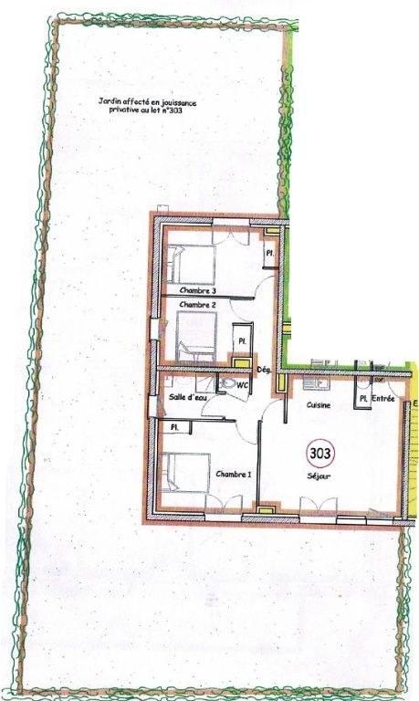 Appartement Grandcamp Maisy  - 70 m² - Rez de jardin