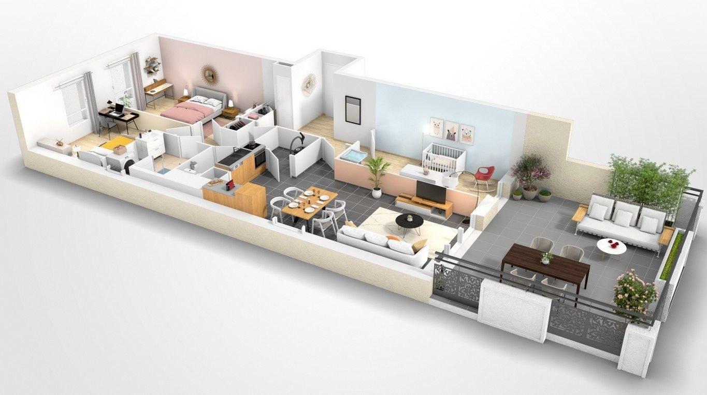 Beauvais Oise 60 Résidence Le Franc Marché centre-ville appartement neuf VEFA plan habiter investir investissement locatif loi défiscalisation Pinel réduction impôts H109