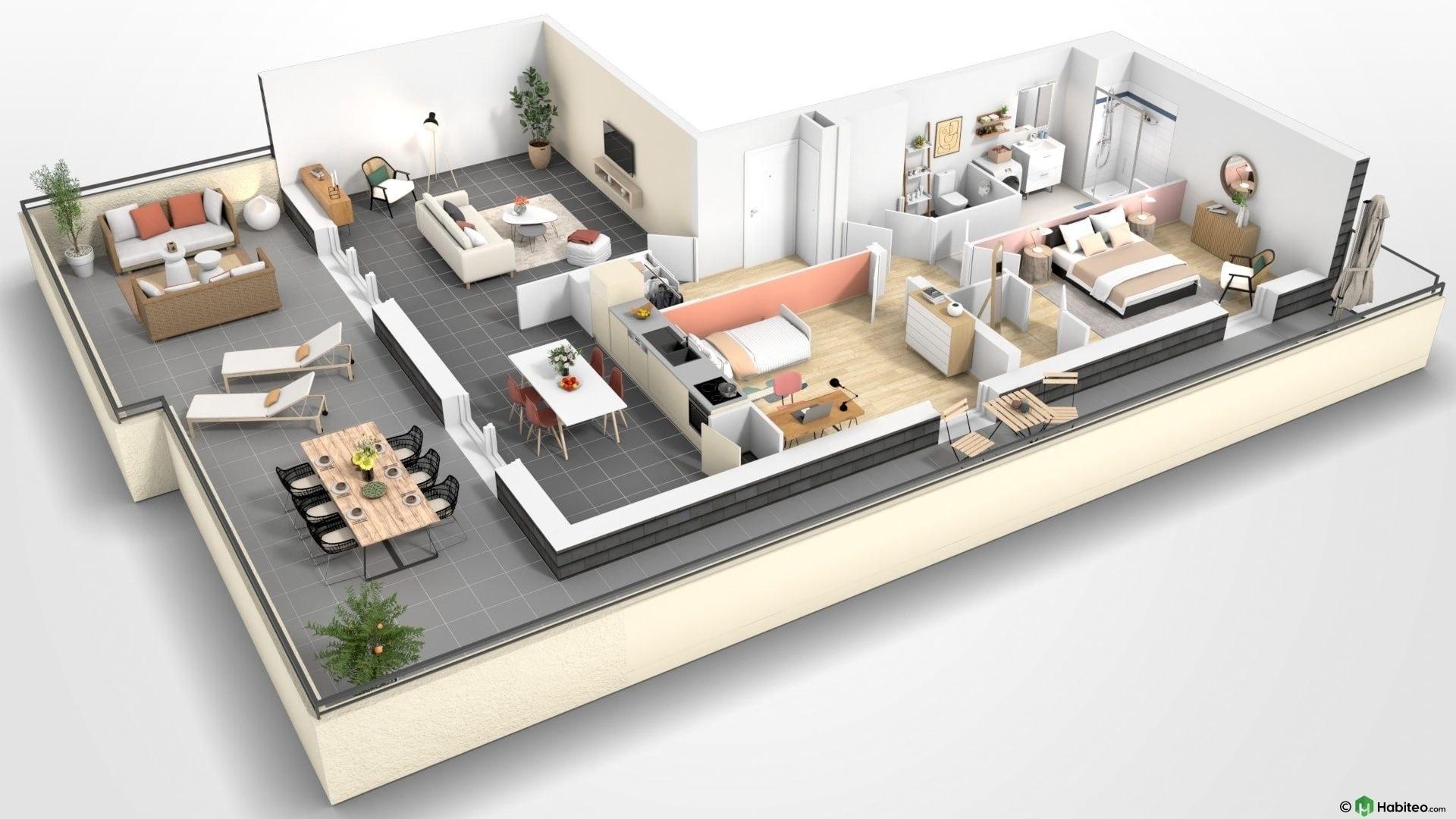 Beauvais Oise 60 Résidence Le Franc Marché centre-ville appartement neuf VEFA plan habiter investir investissement locatif loi défiscalisation Pinel réduction impôts F303