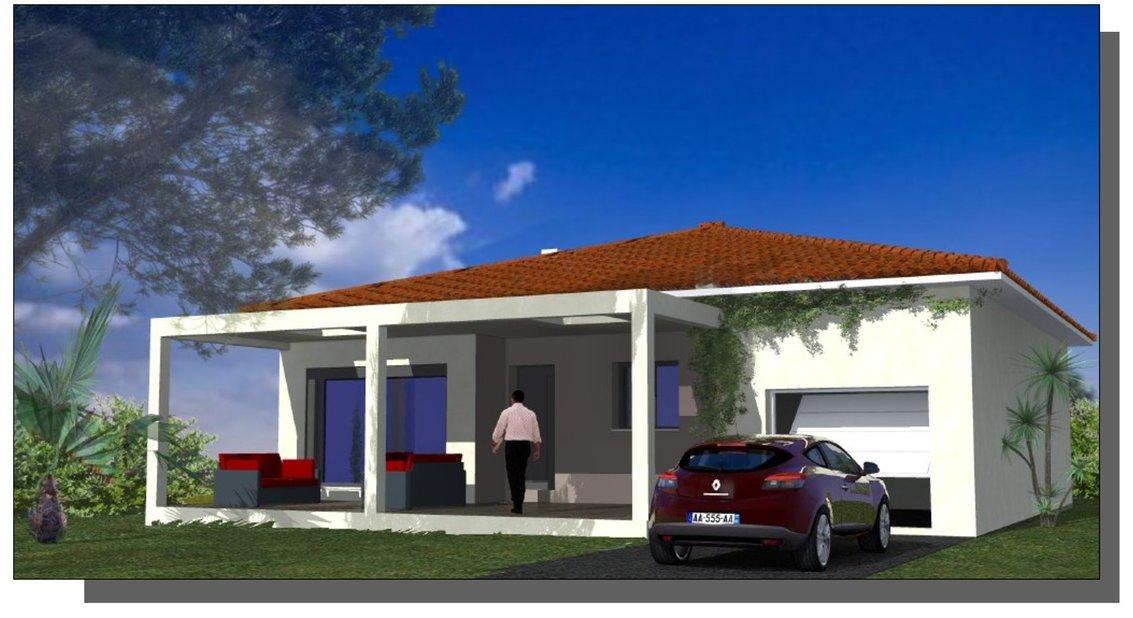 Maison Villa Plain Pied Constructeur Construction Montpellier Lattes Mauguio terrains Plans Pérols Hérault Béziers Clermont l'hérault