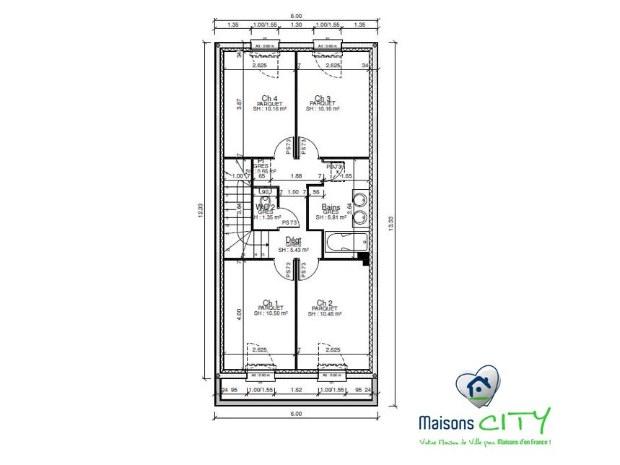 maison-neuve-a-vendre-dombasle-sur-meurthe-maisons-city-Nancy-plan-étage