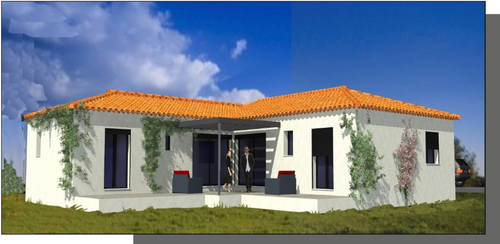 Villa maison Lattes Cosntruction Pérols Montpellier Hérault Béziers Constructeur Plans Etage Plain Pied Architecture Prestations RT 2012