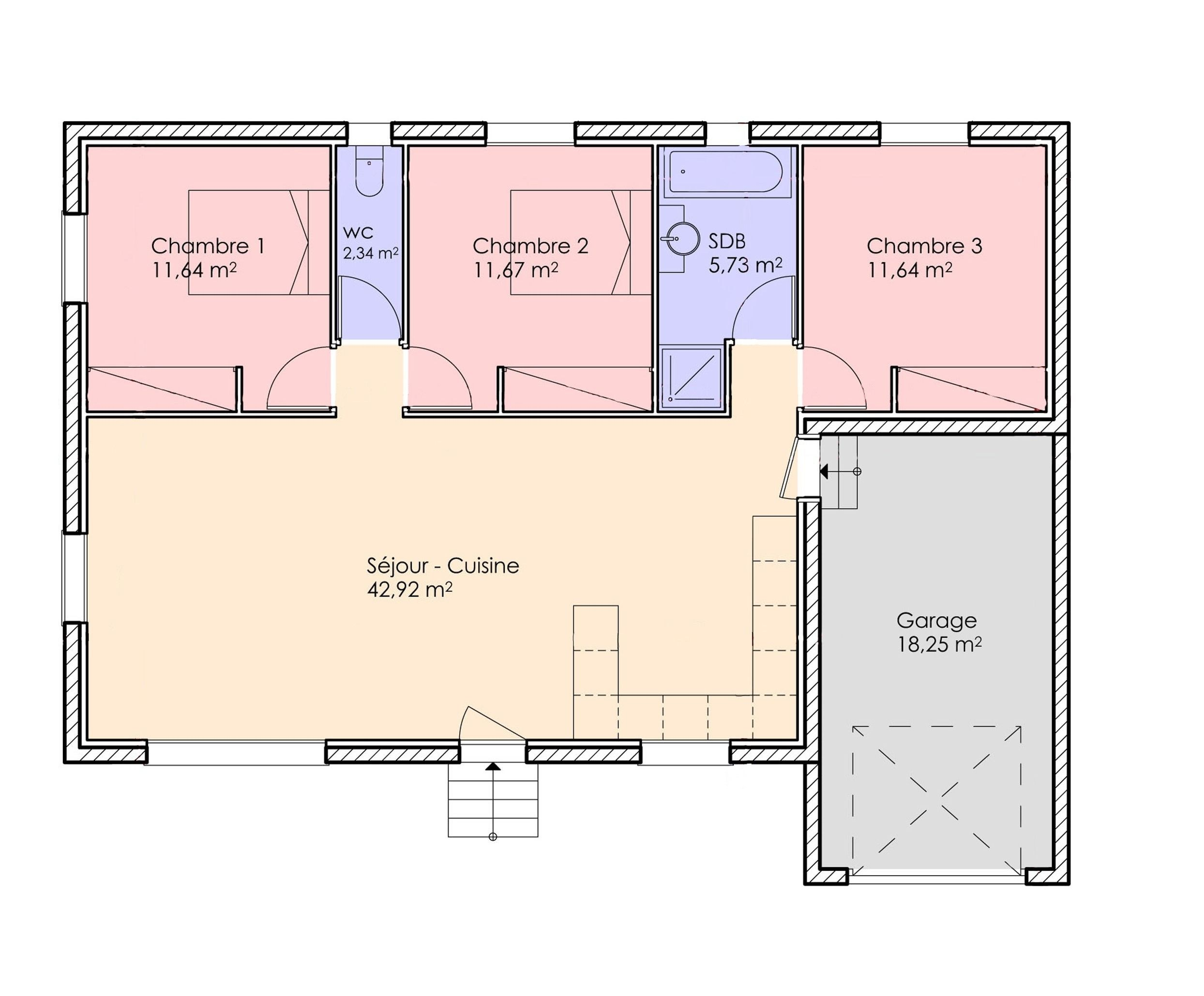 04bis- Plain Pied Traditionnelle 85 m²