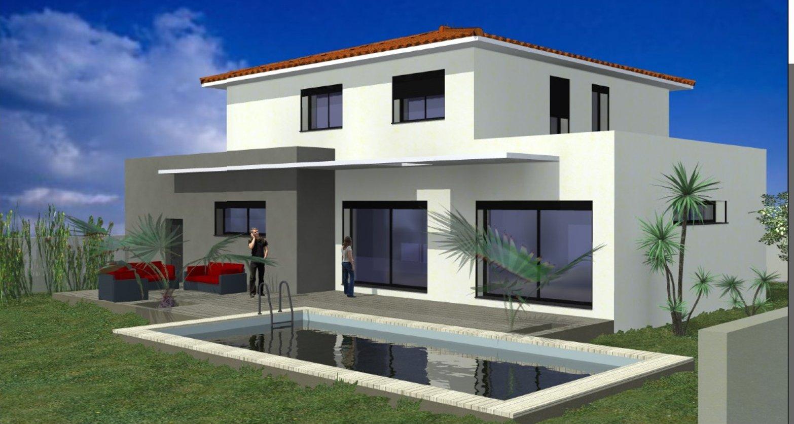 Lattes Construction Plan Maison villa Plain Pied Etage Constructeur Construction Hérault Montpellier RT 2012 Dommage Ouvrage