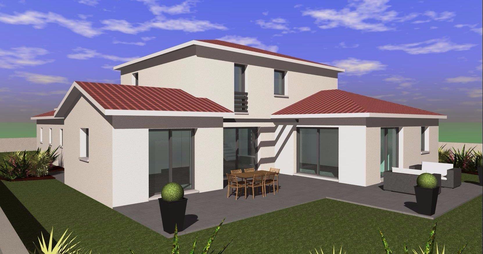 MAISON  A ETAGE 178 m²AVEC GRAND GARAGE  contemporaine