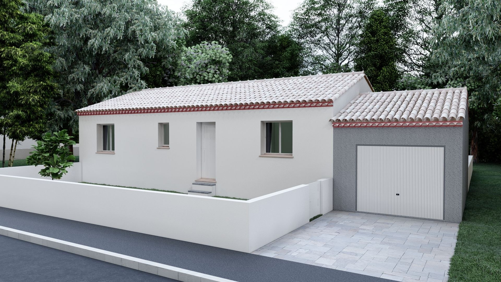 02- Plain Pied Traditionnelle 75 m²