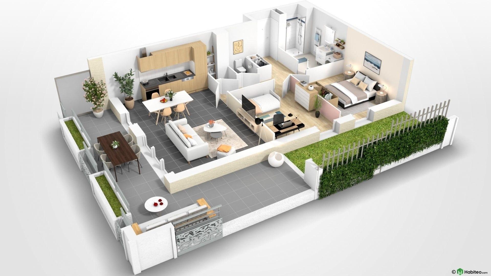 Beauvais Oise 60 Résidence Le Franc Marché centre-ville appartement neuf VEFA plan habiter investir investissement locatif loi défiscalisation Pinel réduction impôts H006