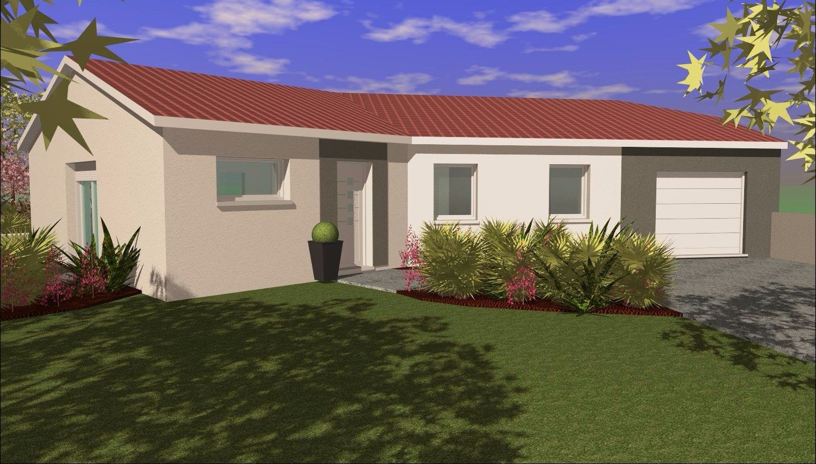 Maisons en V de 99m²