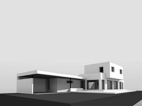 Maison contemporaine 2 vue ouest NIMES GARD