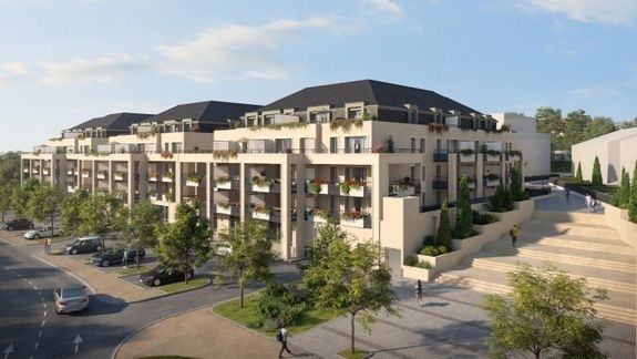 Image virtuelle perspective 3D Le Franc Marché Beauvais résidence d'appartements neufs