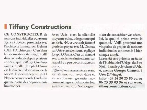 Tiffany Constructions en Uzège