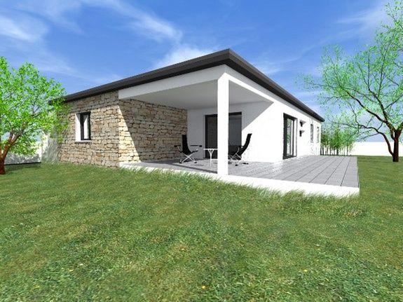 Maison mediterranéenne contemporaine plein-pied 140m²