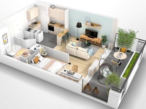 Beauvais Oise 60 Résidence Le Franc Marché centre-ville appartement neuf VEFA plan habiter investir investissement locatif loi défiscalisation Pinel réduction impôts H005
